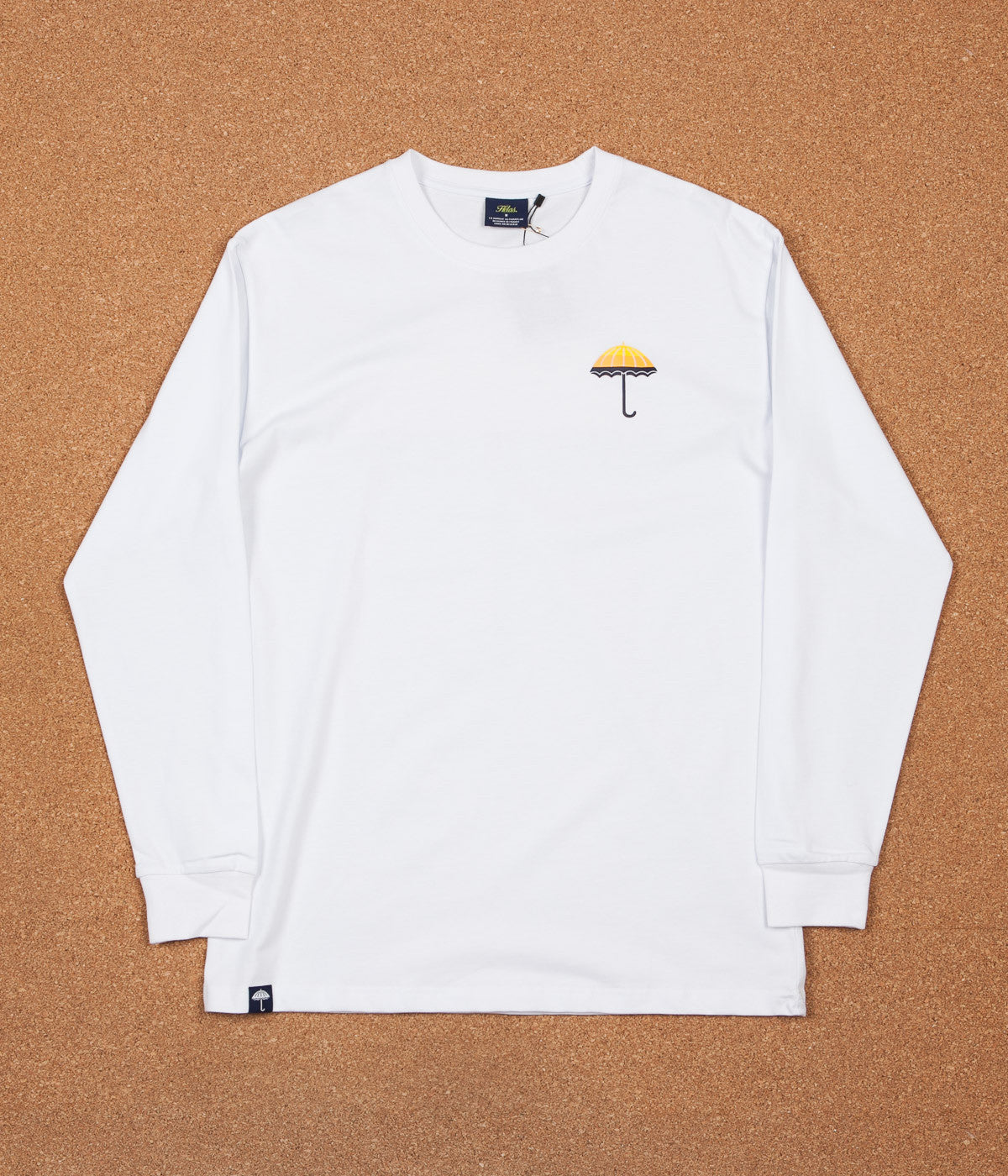 Helas Umbrella Long Sleeve T-Shirt - White / Yellow / Orange / Navy