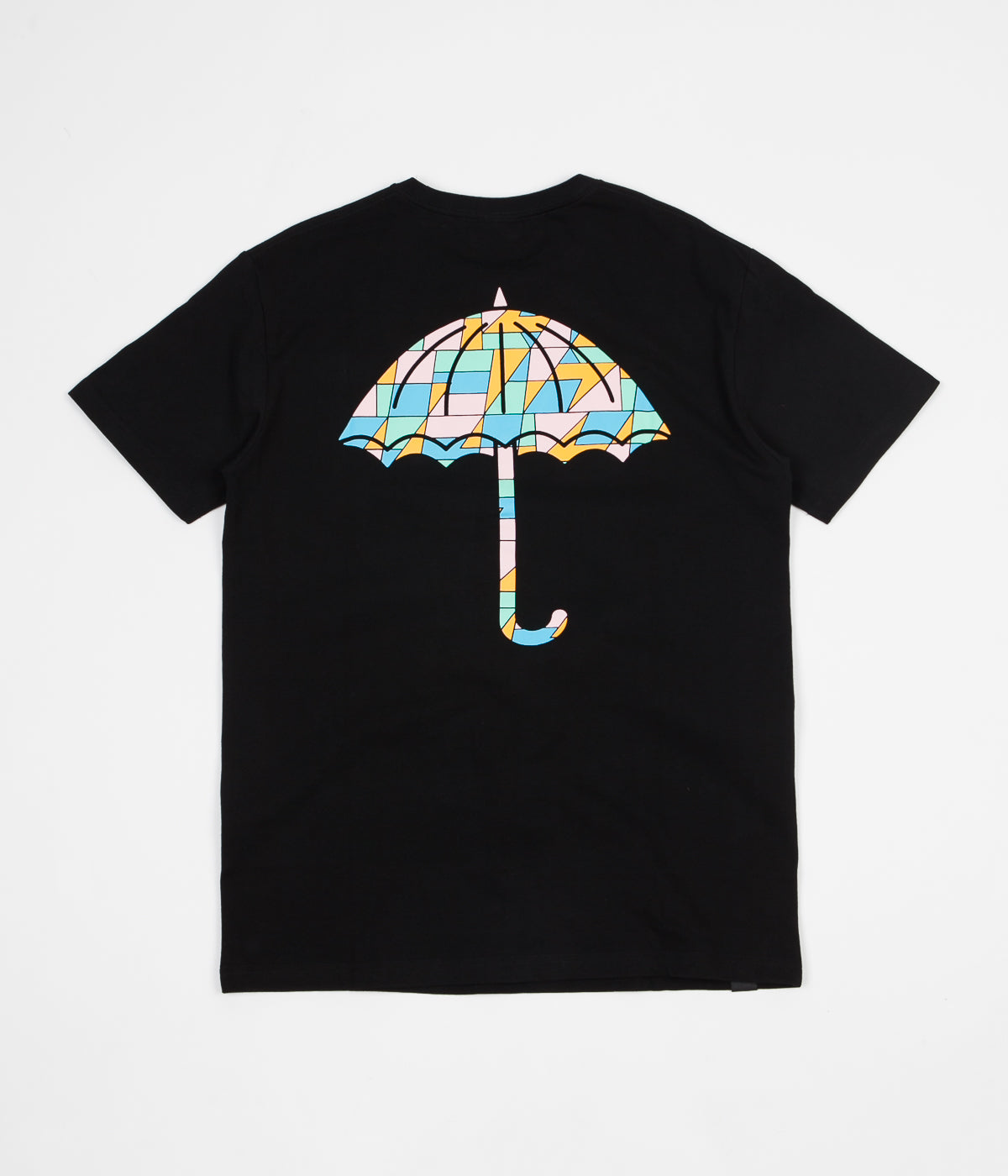 Helas Umbrella Mosaic T-Shirt - Black