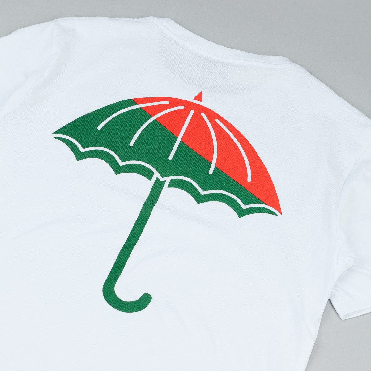Helas Umbrella T-Shirt White / Green - Red