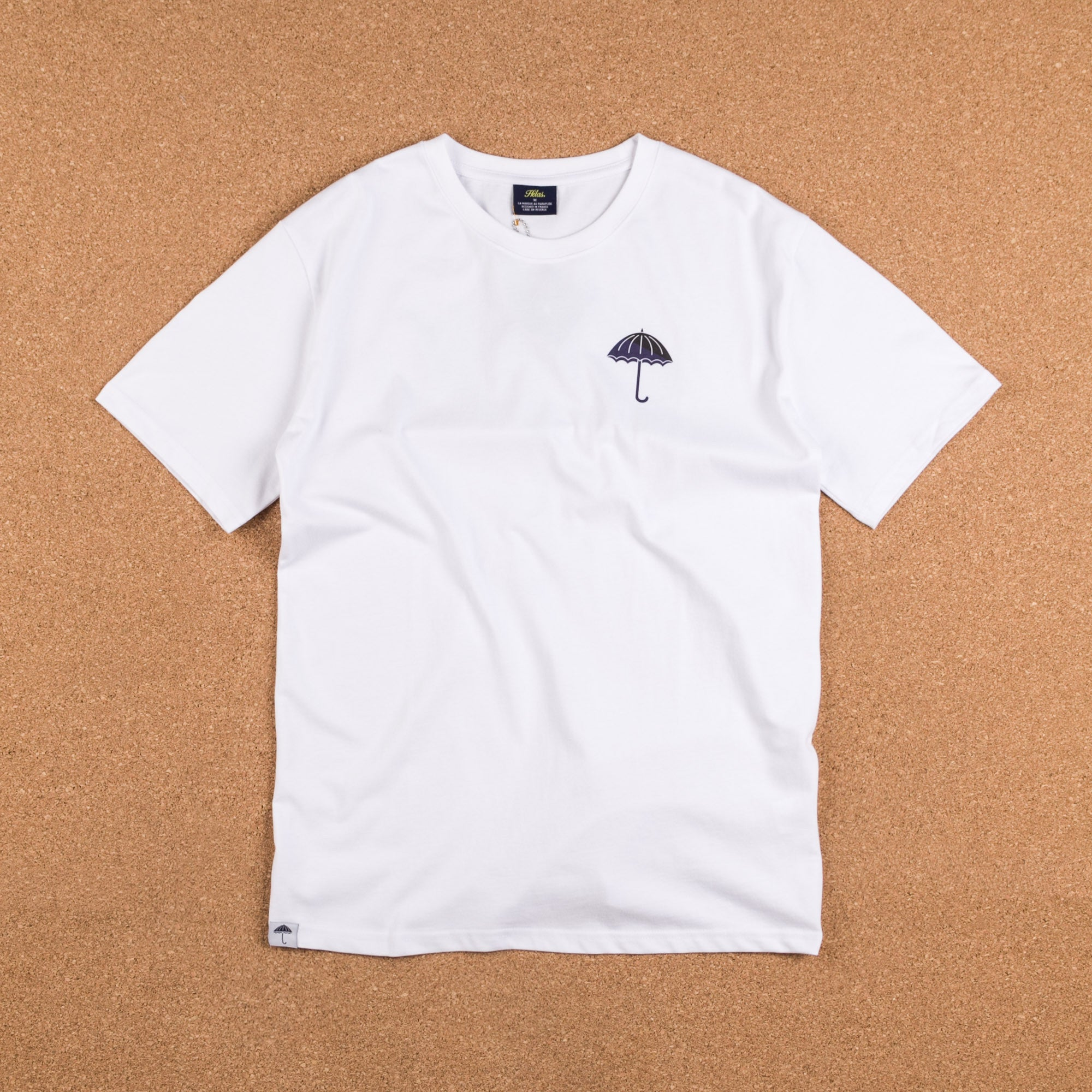 Helas Umbrella T-Shirt - White / Navy / Black