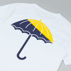Helas Umbrella T-Shirt White / Navy - Yellow
