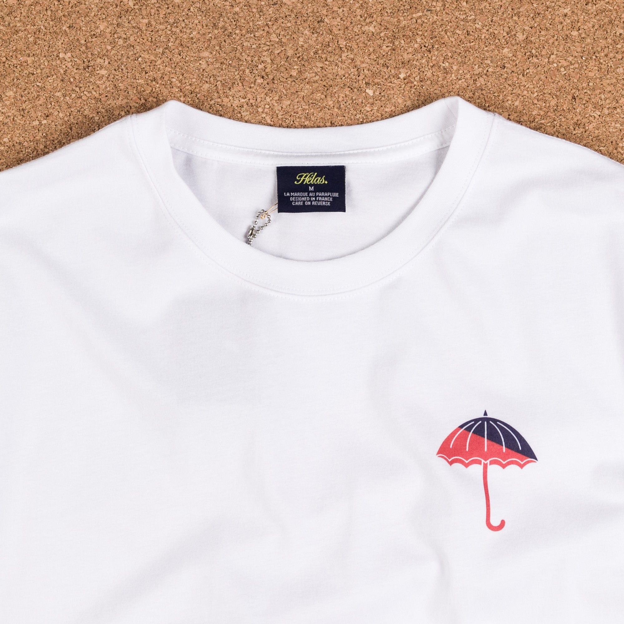Helas Umbrella T-Shirt - White / Red / Navy