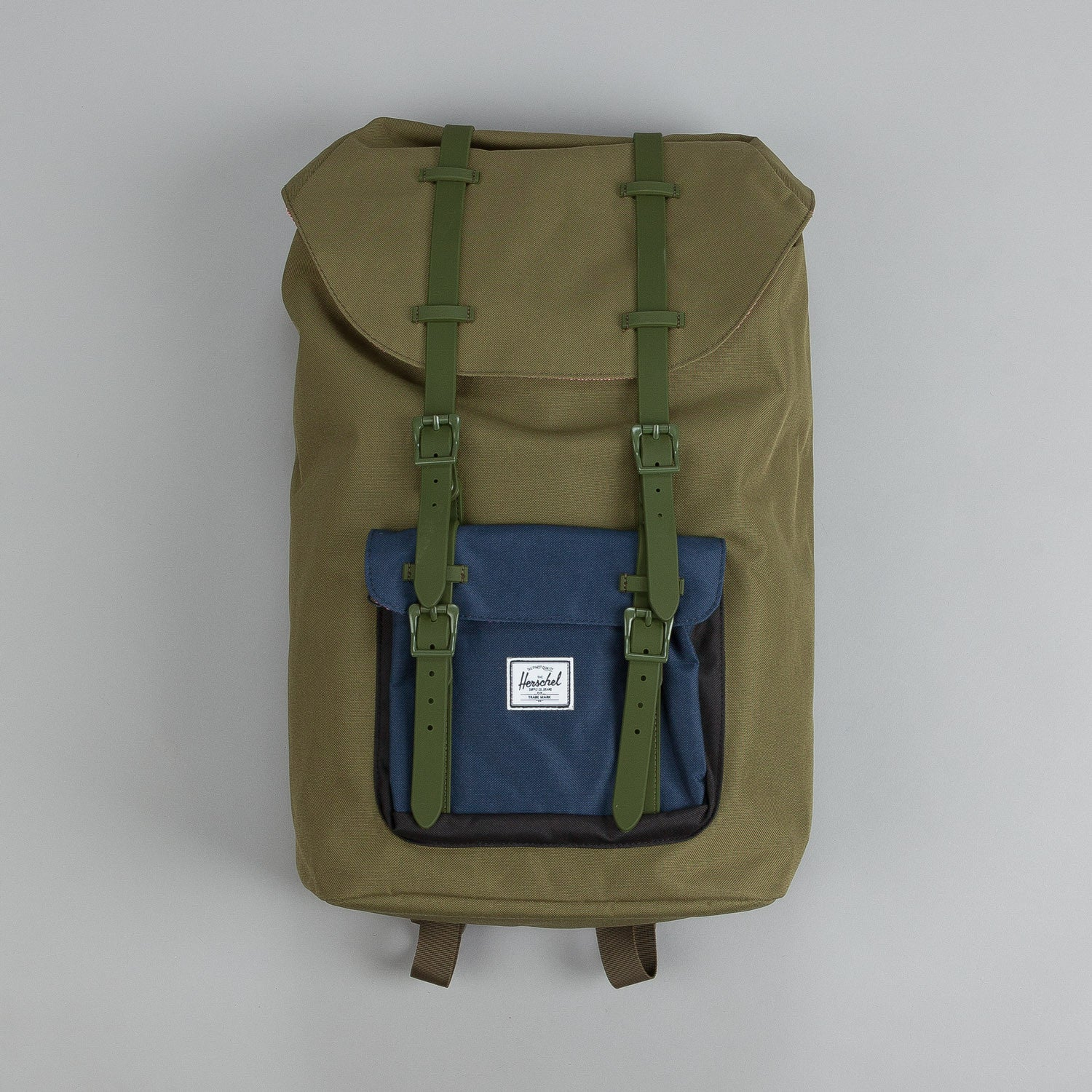 Herschel Little America Backpack Army / Navy / Black / Army Rubber