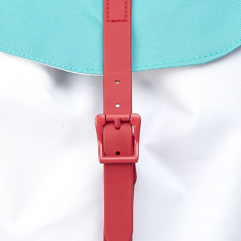 Herschel Post Backpack White / Mark Teal / Red