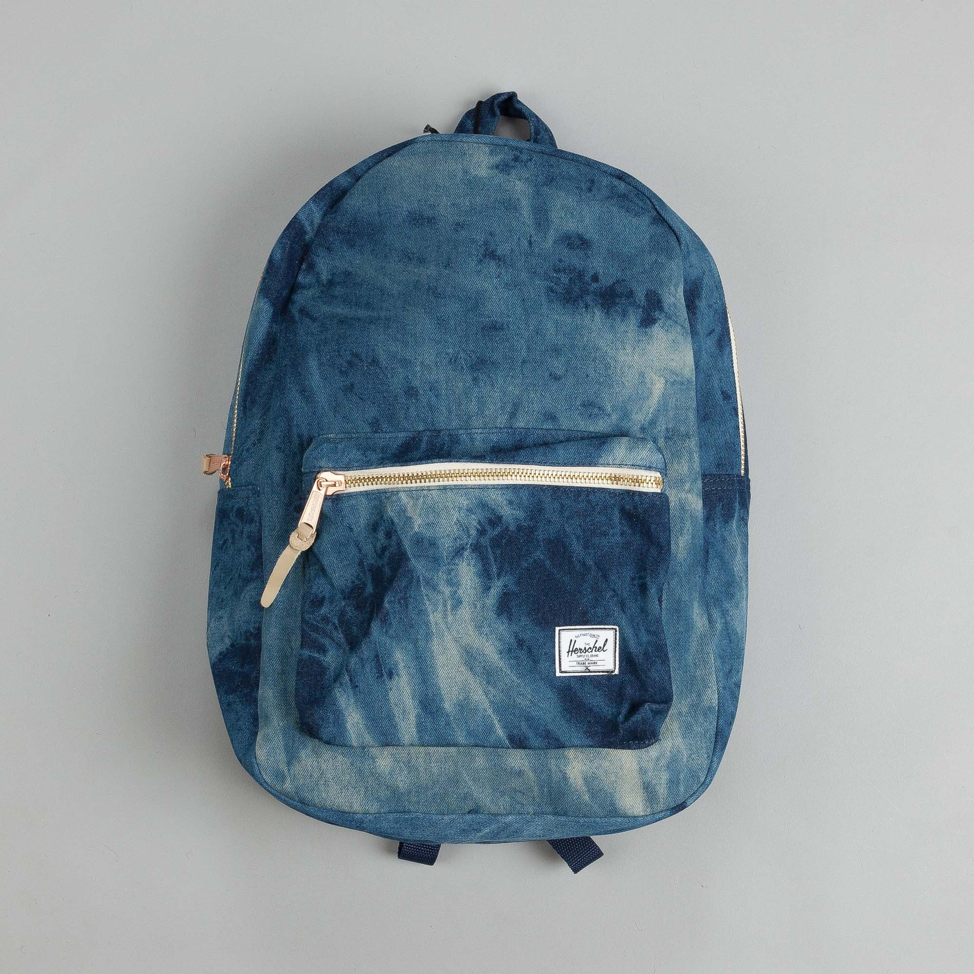 Herschel Settlement Backpack Acid Wash Denim / Navy Coated Cotton Canvas