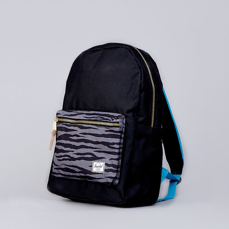 Herschel Settlement Backpack Black / Zebra / Cyan