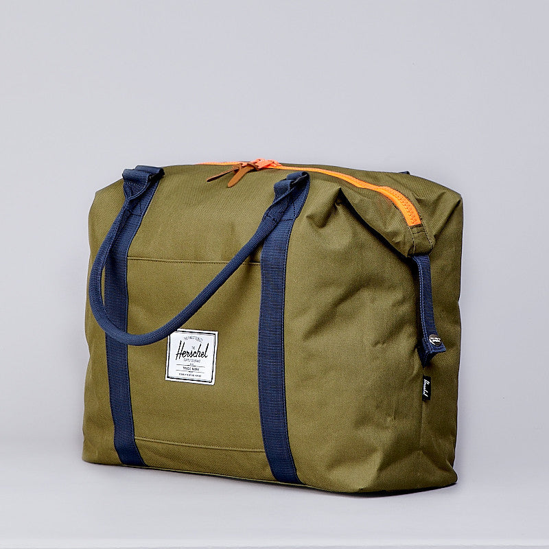 Herschel Strand Plus Bag Army / Navy / Neon Orange Rubber