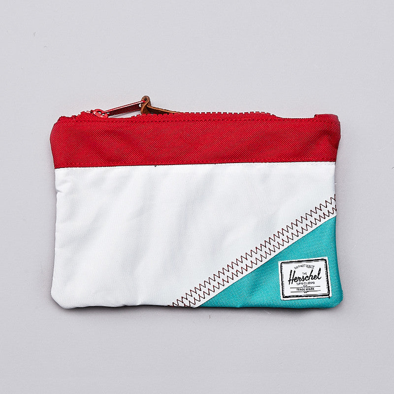 Herschel Field Pouch White / Racing Red / Mark Teal