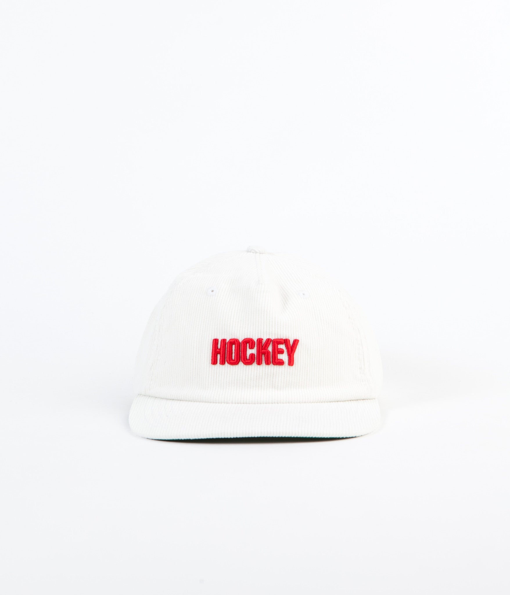 Hockey Corduroy Logo Cap - White