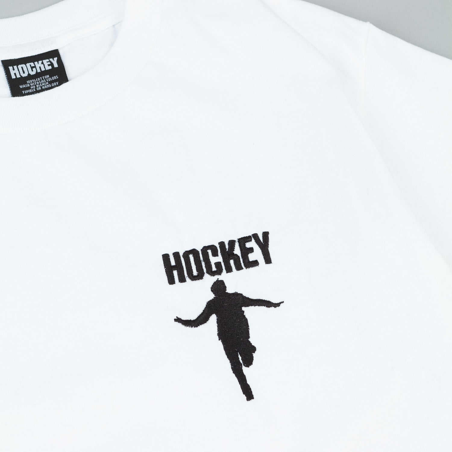 Hockey Embroidered T-Shirt - White