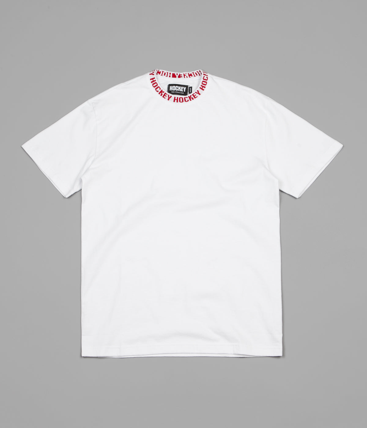 Hockey Knit Ringer T-Shirt - White / White