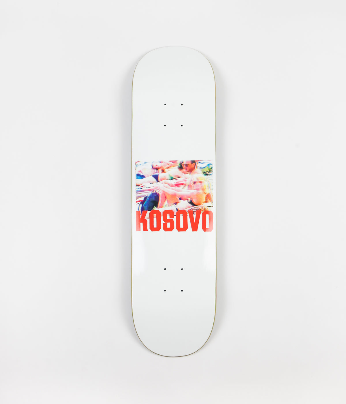 Hockey Kosovo Deck - White - 8.25""