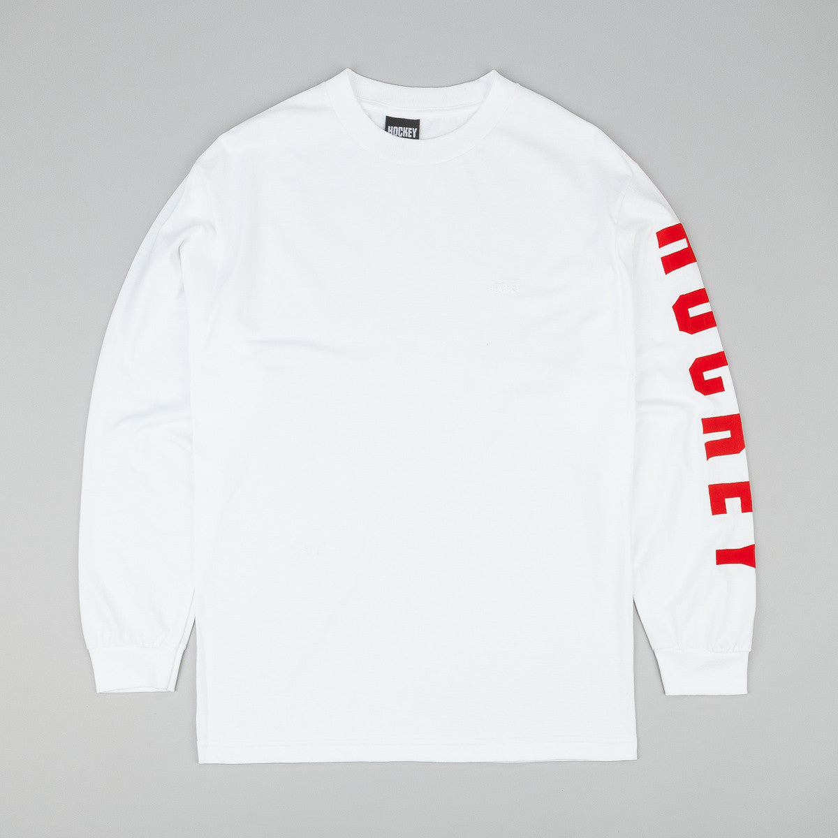 Hockey Logo L/S T-Shirt - White