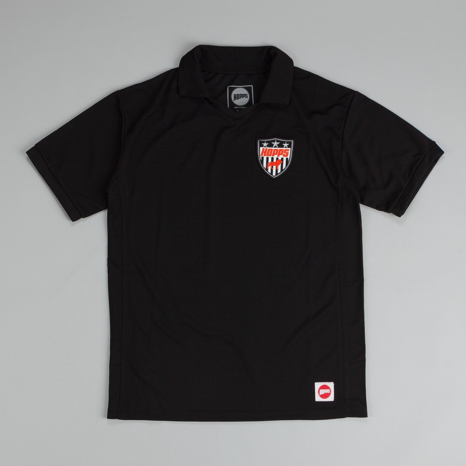Hopps Lion Jersey T Shirt Black