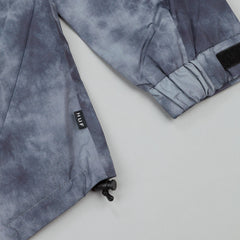 HUF 10K Wave Shell Jacket - Black Tie Dye