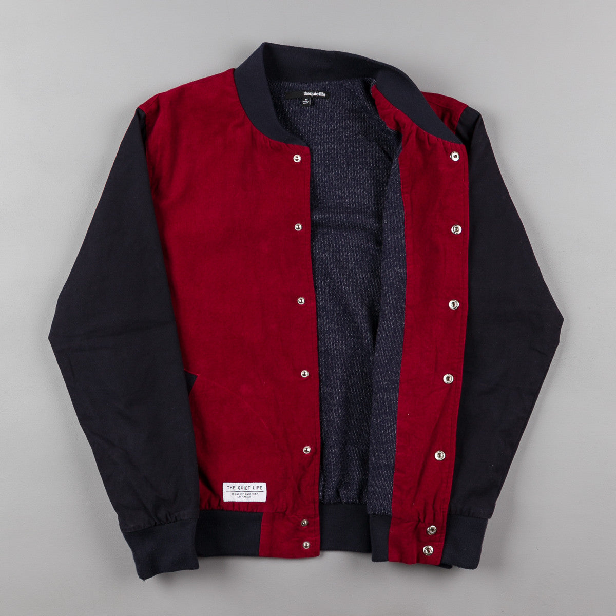 The Quiet Life Cord Coach Jacket Maroon Corduroy