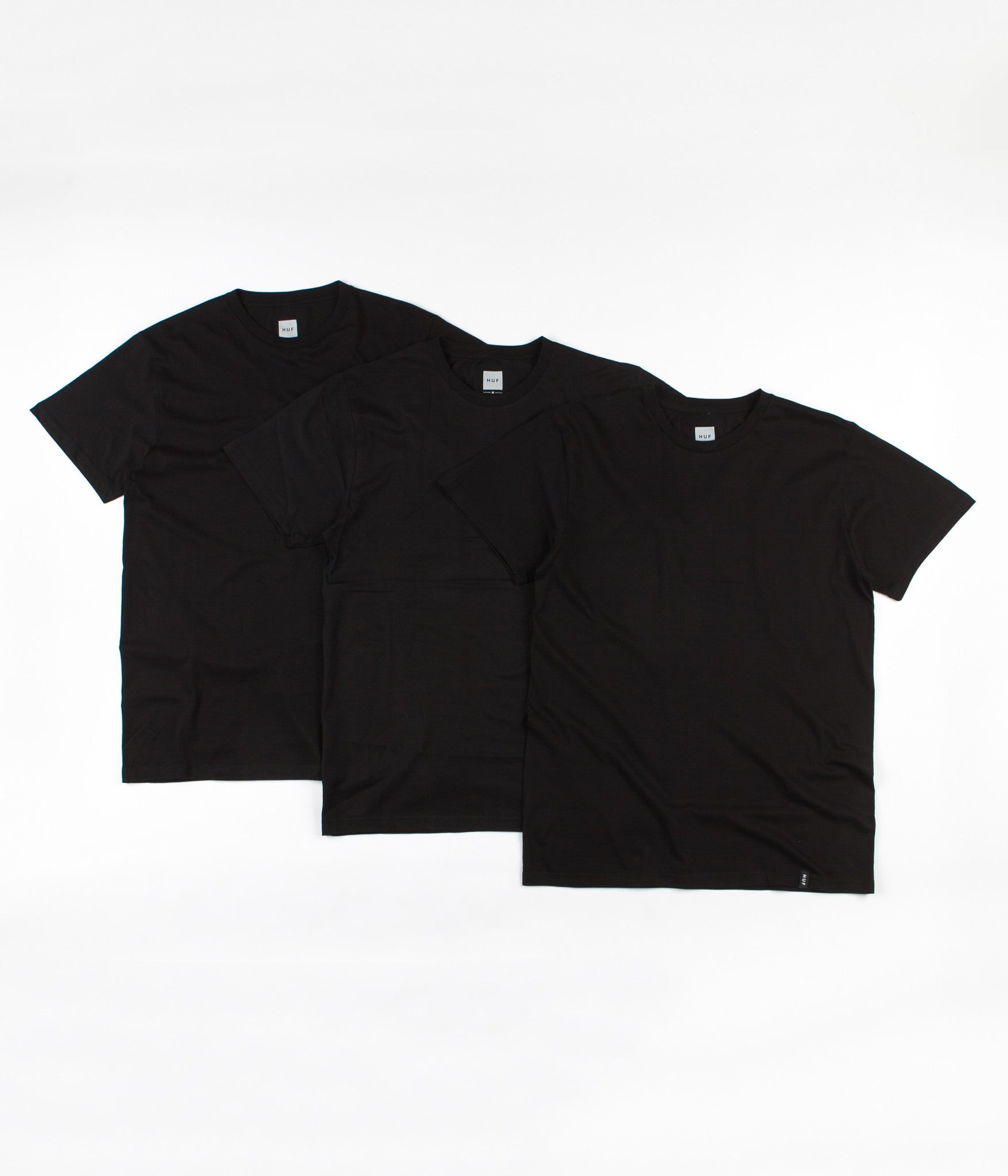 HUF T-Shirt Three Pack - Black
