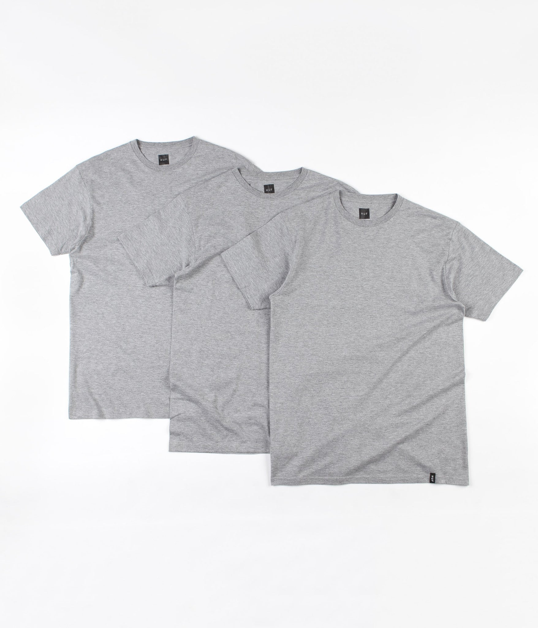 HUF T-Shirt Three Pack - Heather Grey