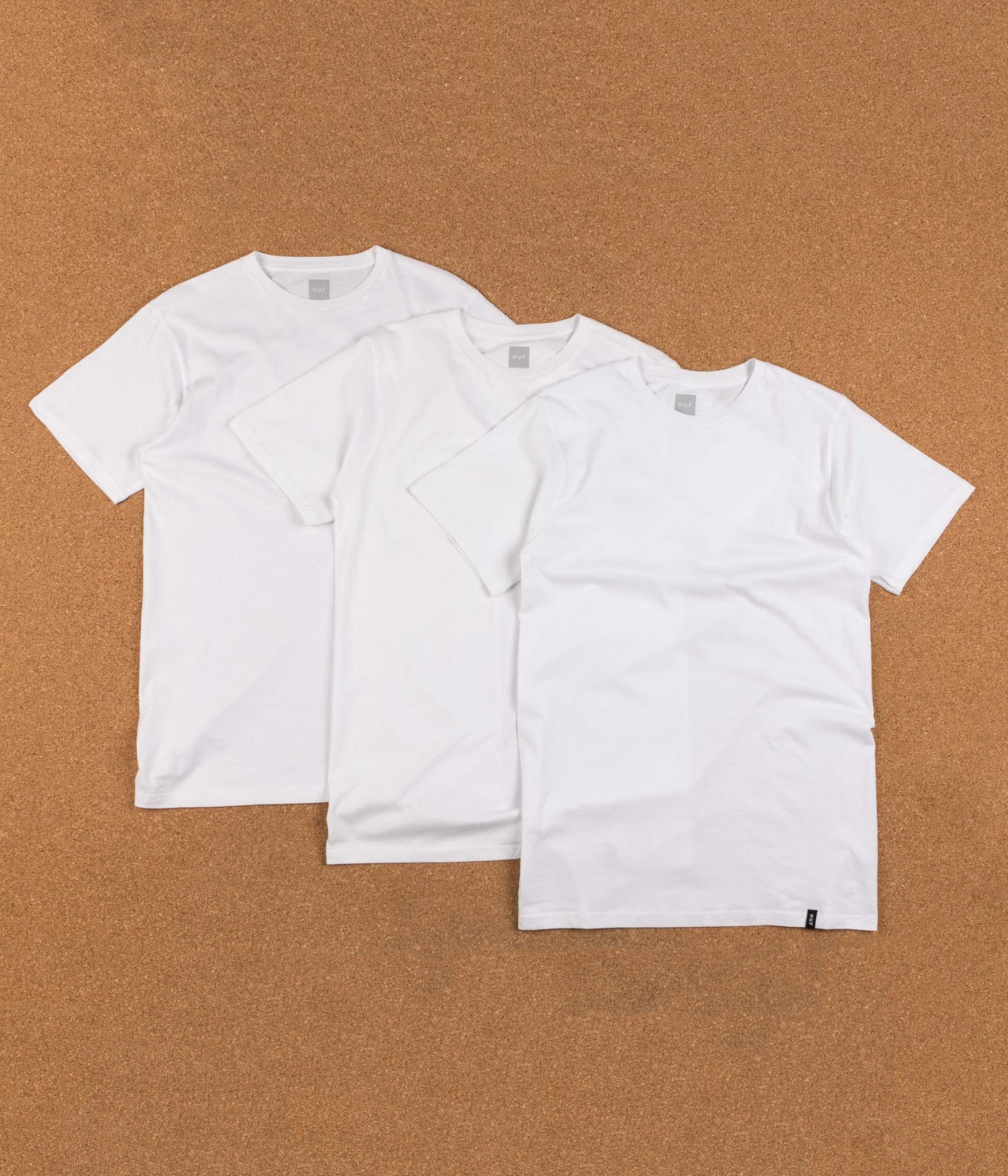HUF T-Shirt Three Pack - White