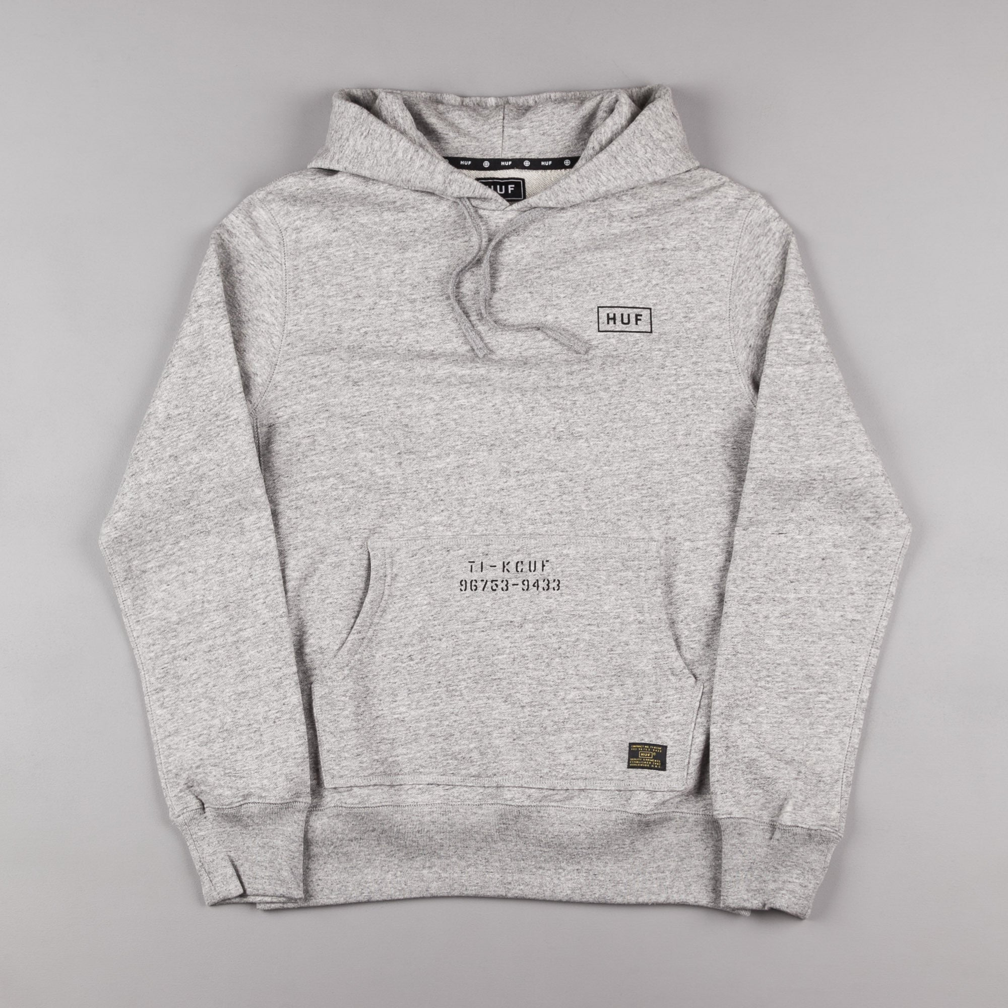 HUF Standard Issue Hooded Sweatshirt - Grey Heather