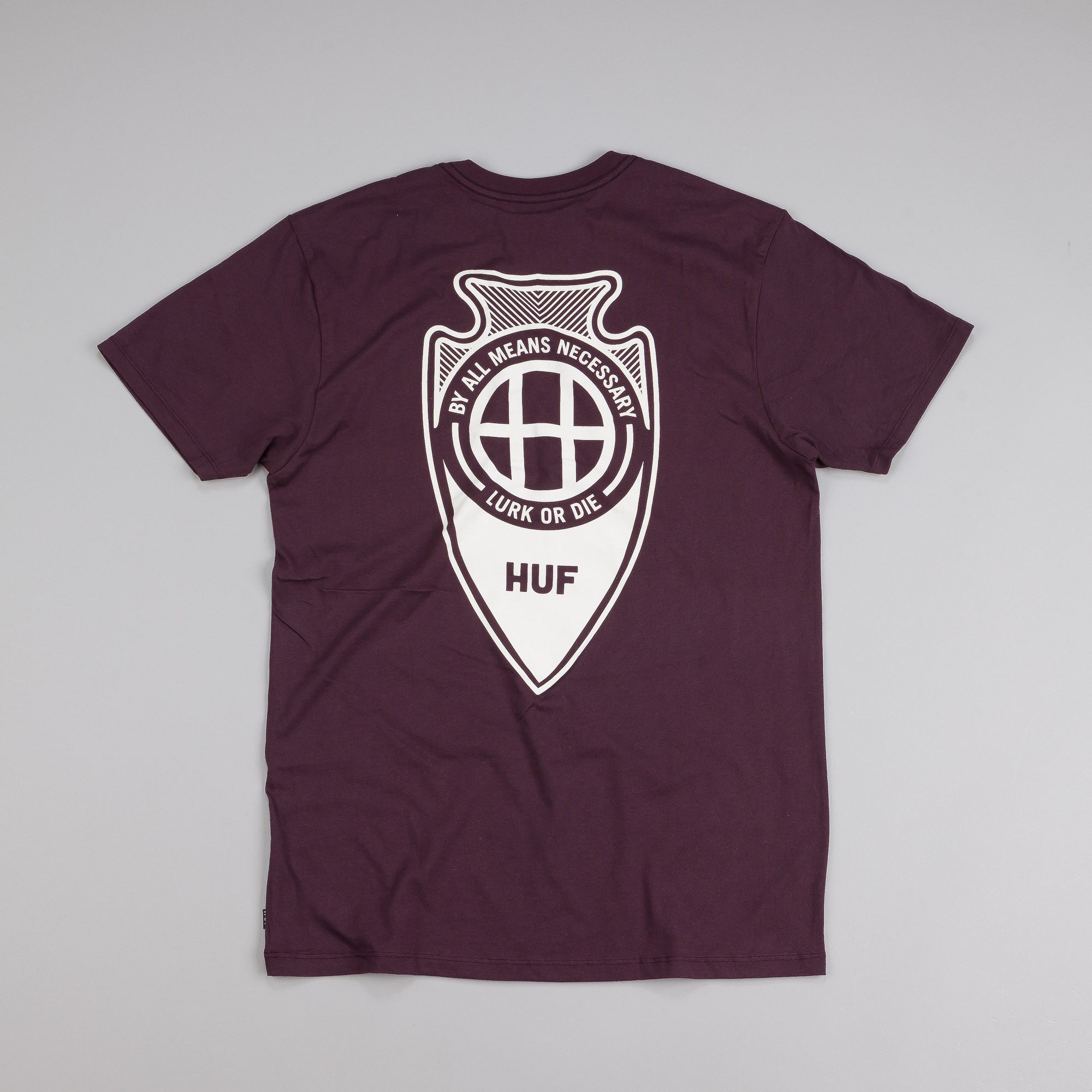 HUF Arrow Head T Shirt Wine