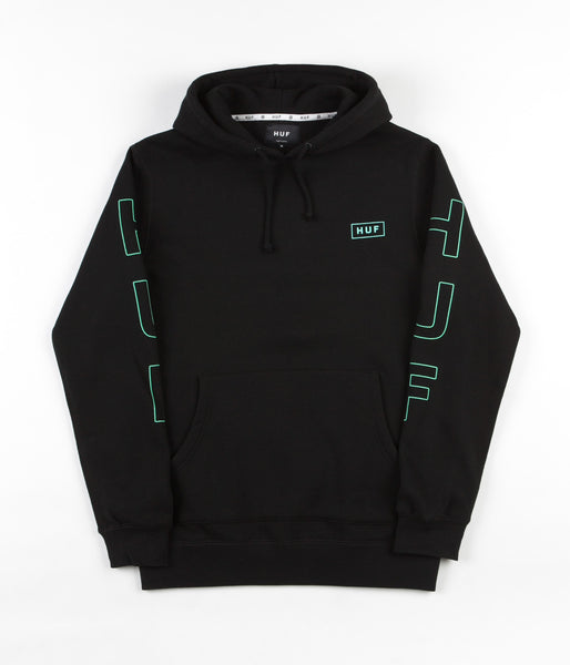 HUF Bar Logo Hooded Sweatshirt - Black