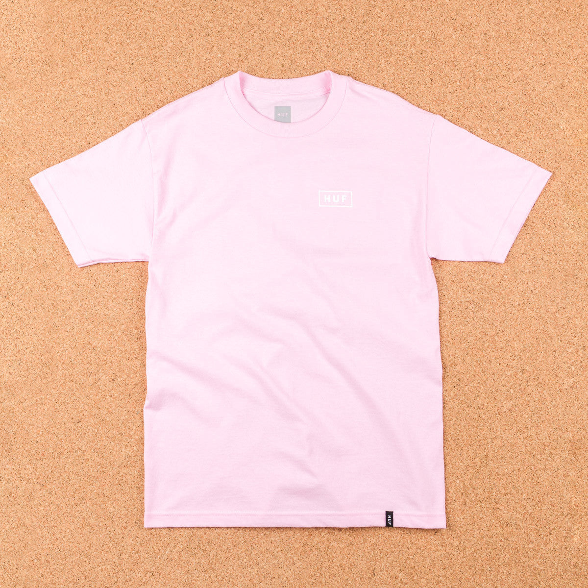 HUF Bar Logo T-Shirt - Pink / White