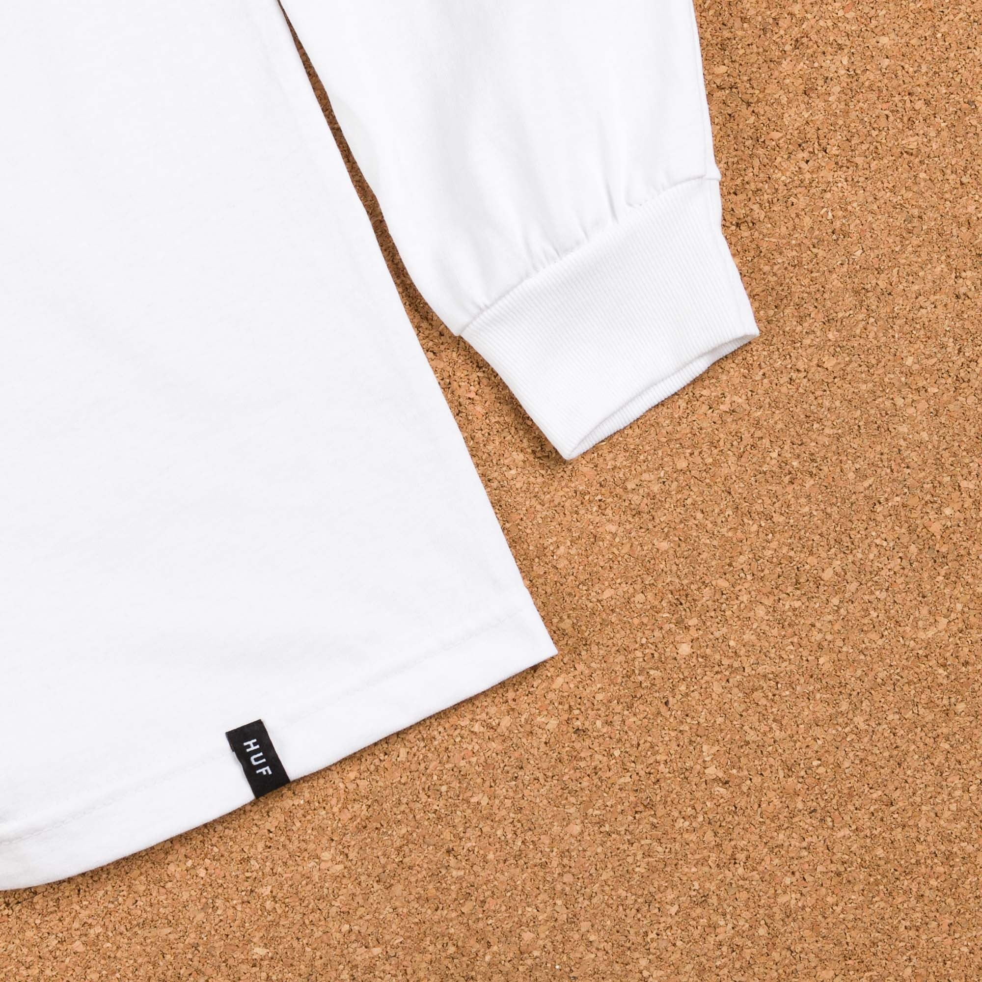 HUF Bar Logo UV Long Sleeve T-Shirt - White