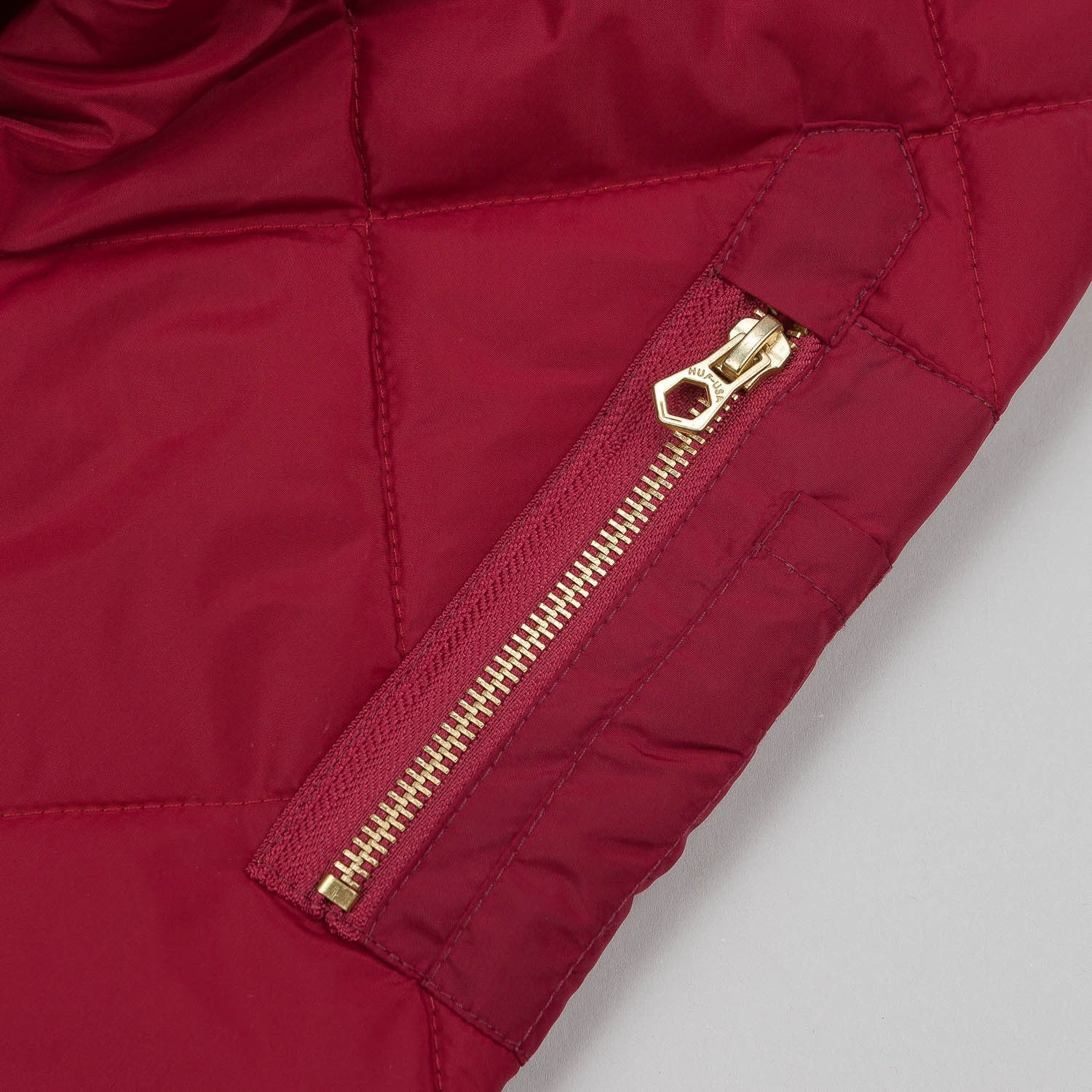 HUF Baron Quilted Flight Jacket - Burgundy