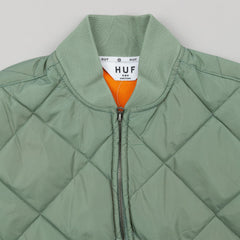 HUF Baron Quilted Flight Jacket - Sage