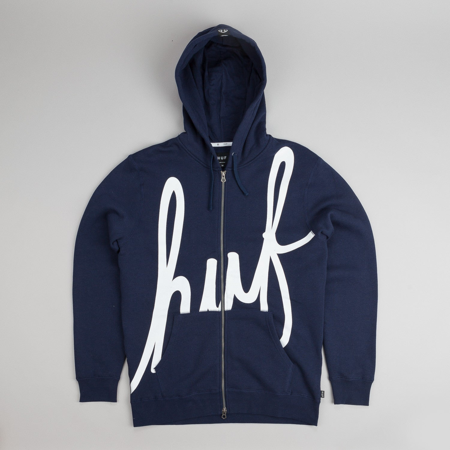 Huf Big Script Zip Hooded Sweatshirt