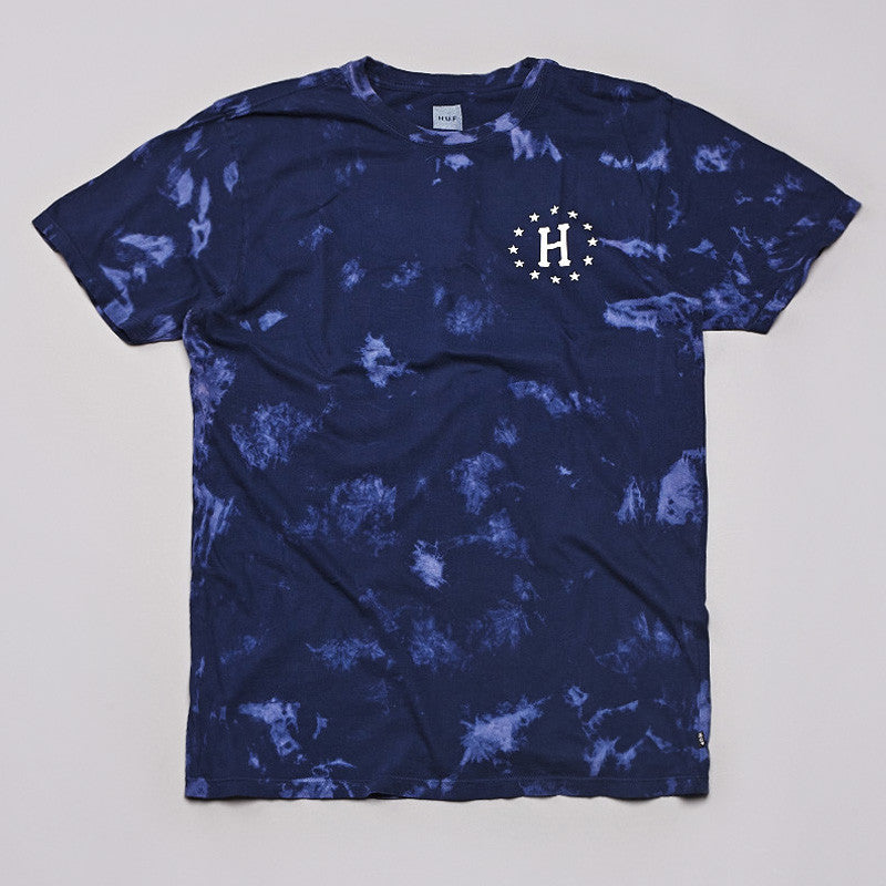 Huf Bleached H T Shirt Bleached Navy