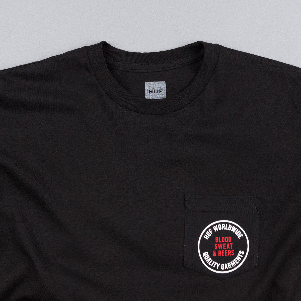 HUF Blood Sweat Beers Pocket T-Shirt - Black