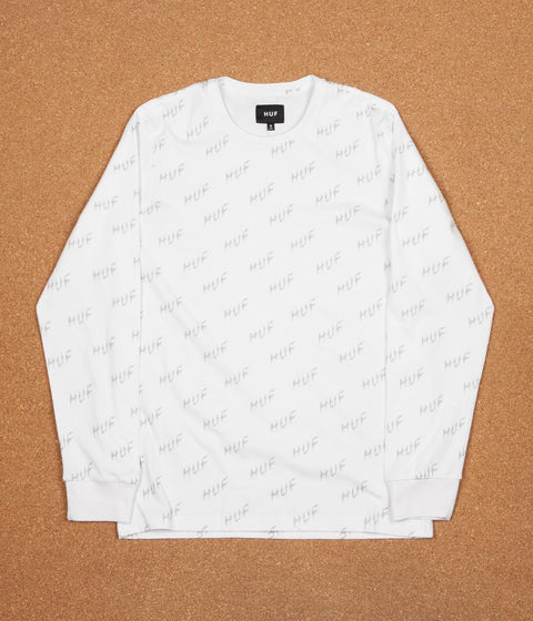 HUF Bolt All-Over Long Sleeve T-Shirt - White