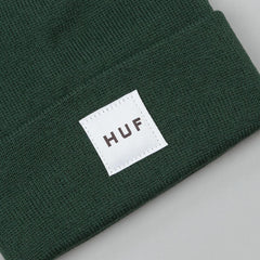 HUF Box Logo Beanie - Forest Green