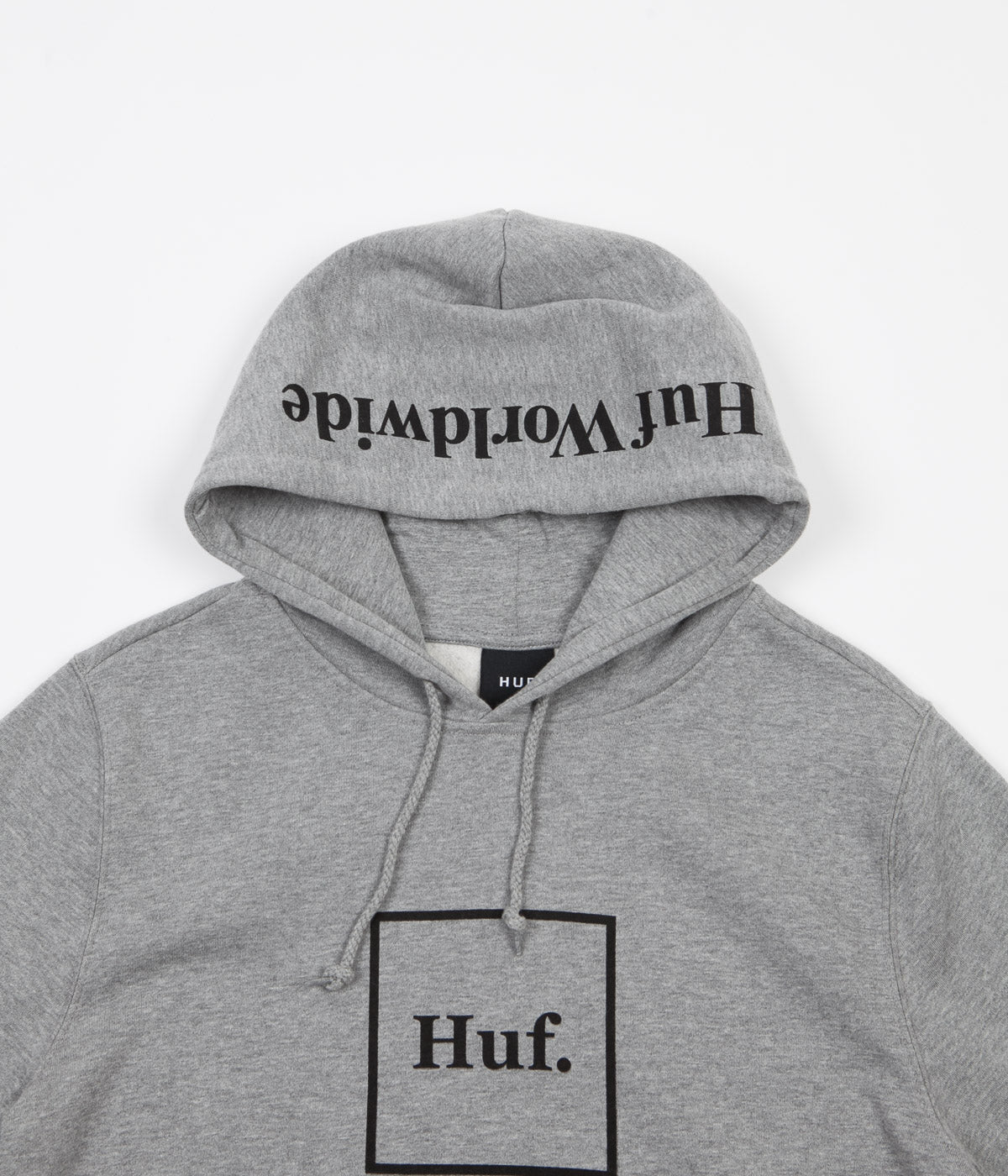 HUF Box Logo Hoodie - Heather Grey