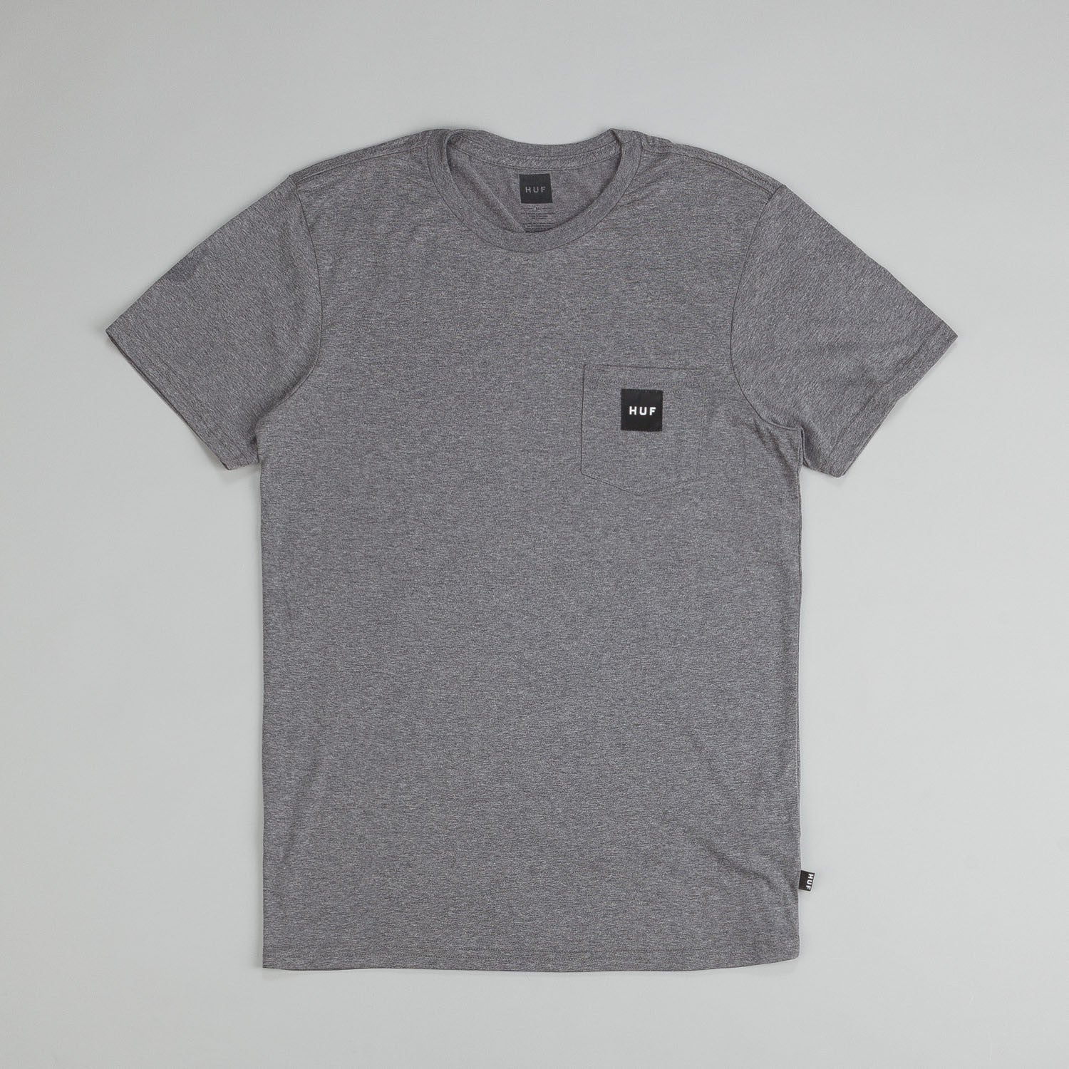 Huf Box Logo Pocket T Shirt Grey Heather