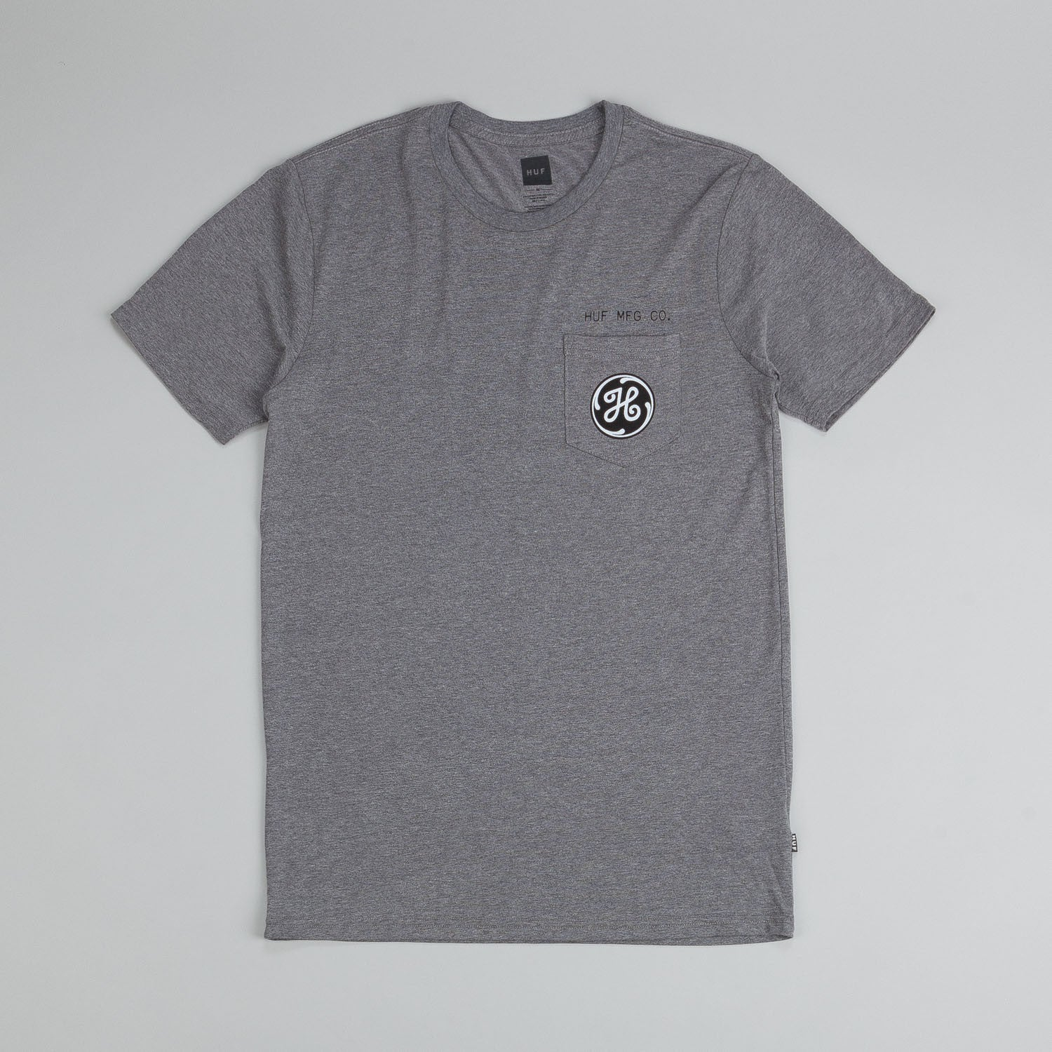 Huf Watt Up Pocket T Shirt Grey Heather