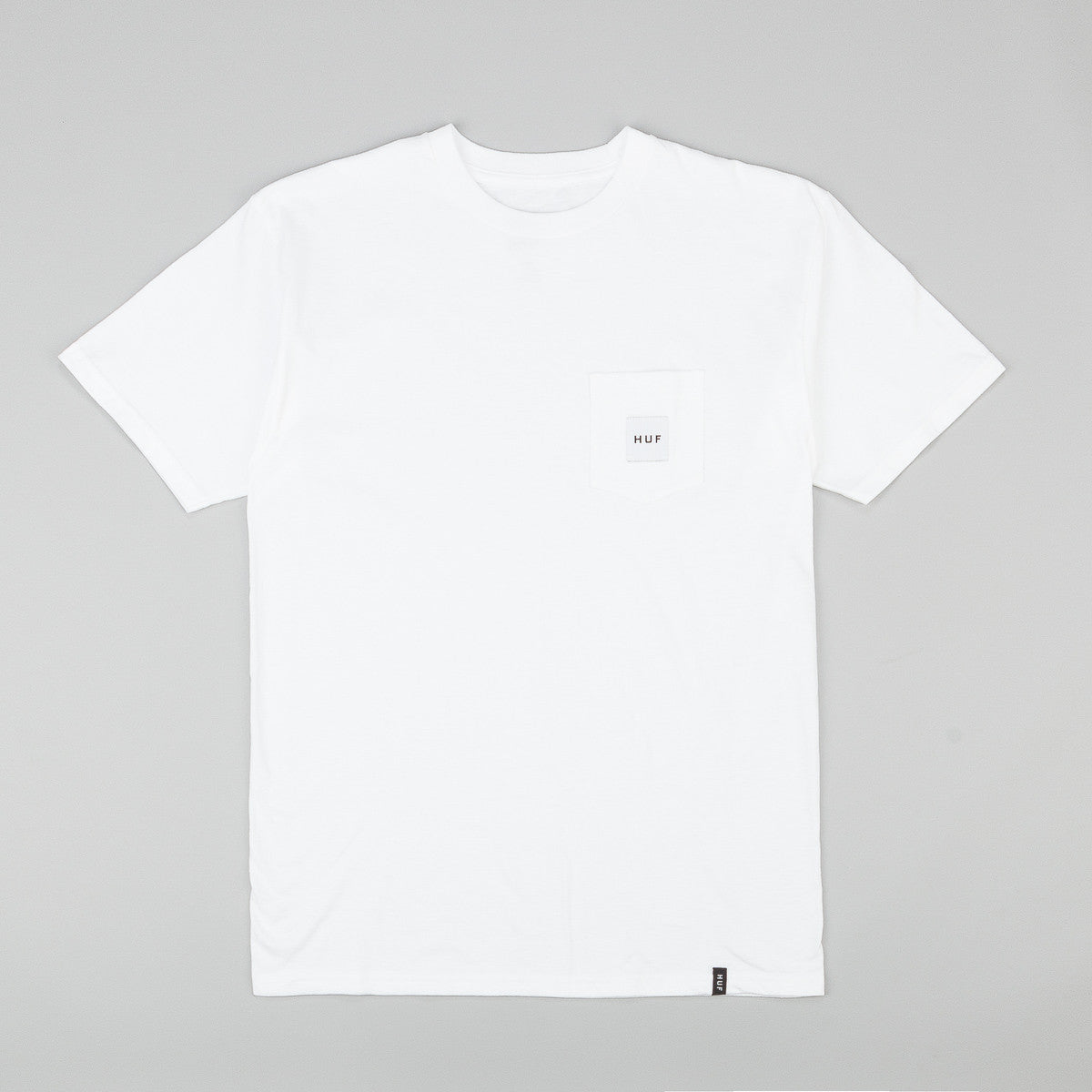 Huf Box Logo Pocket T Shirt White