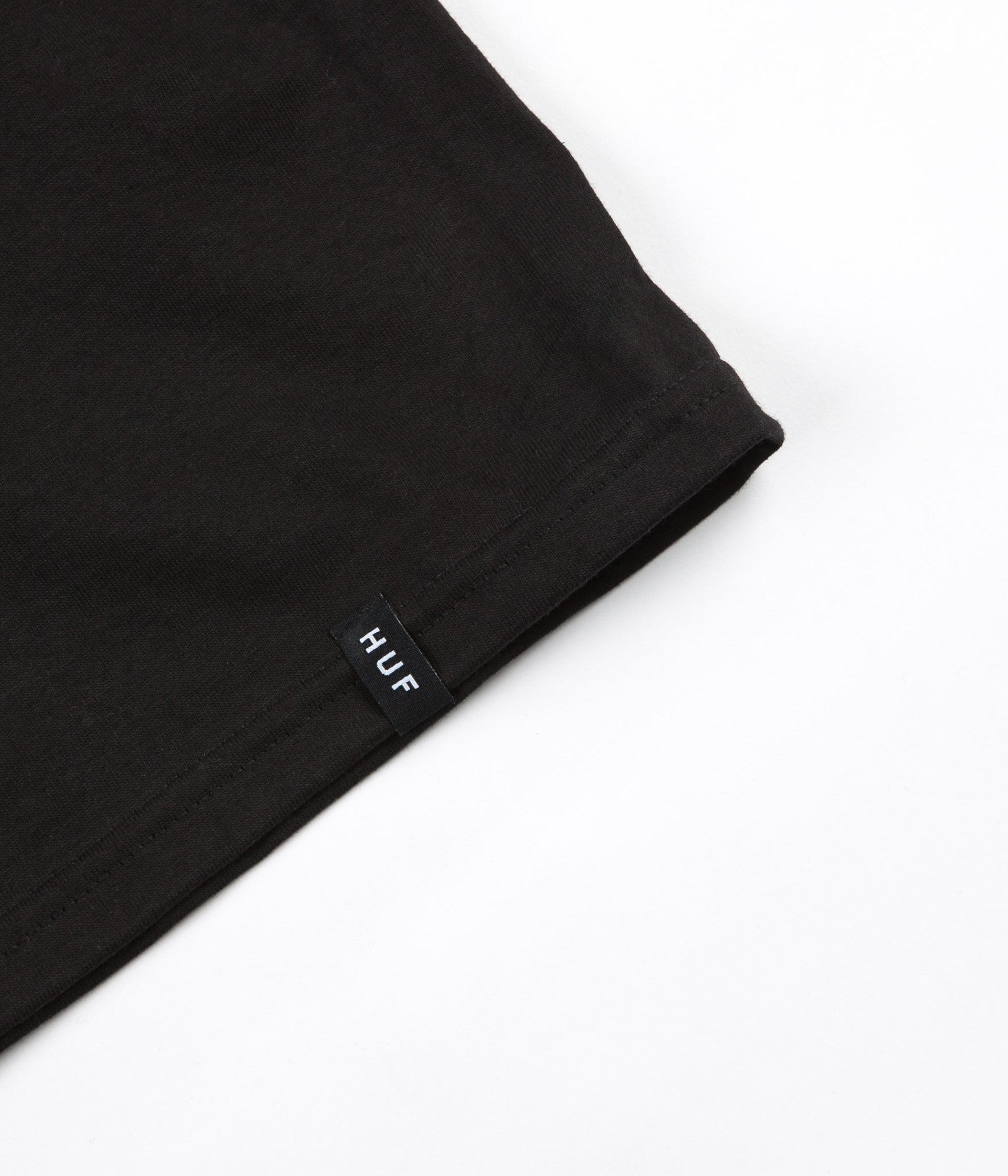 HUF Box Logo Puff T-Shirt - Black
