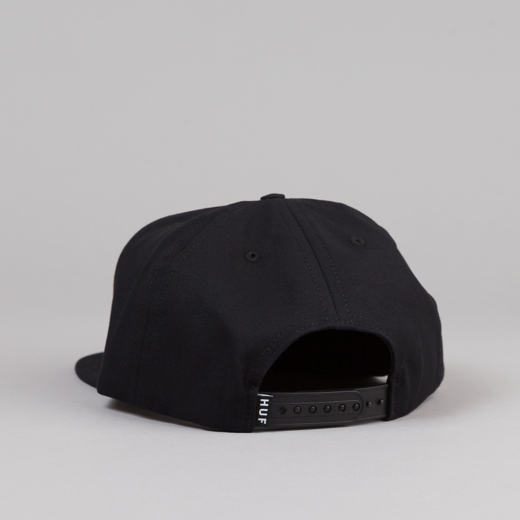 HUF Box Logo Snapback - Black / Red Logo