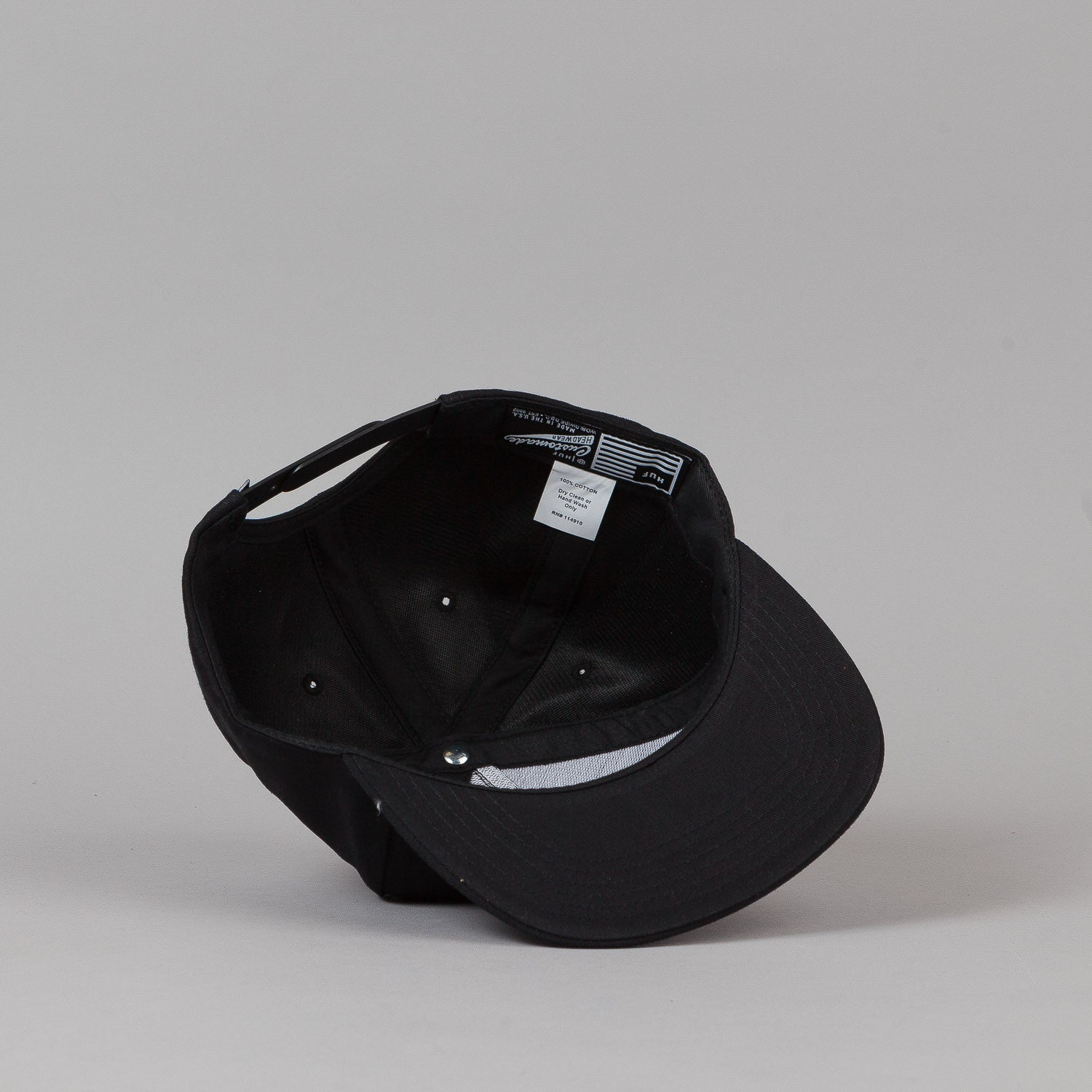 HUF Box Logo Snapback - Black