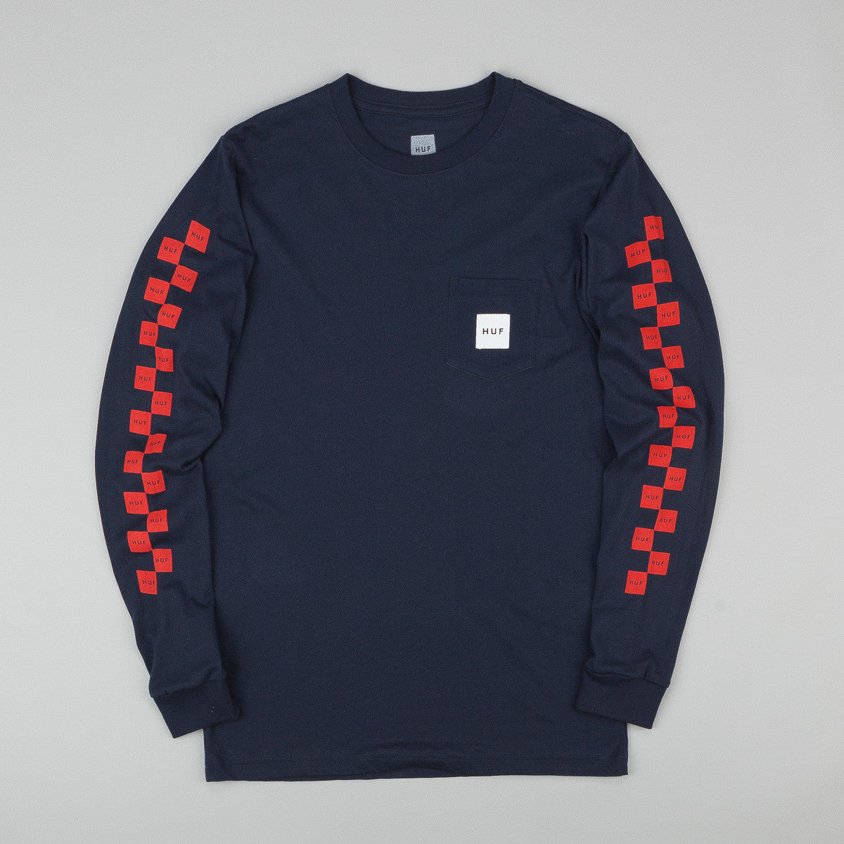 HUF Bunny Hop Long Sleeve Pocket T-Shirt - Navy