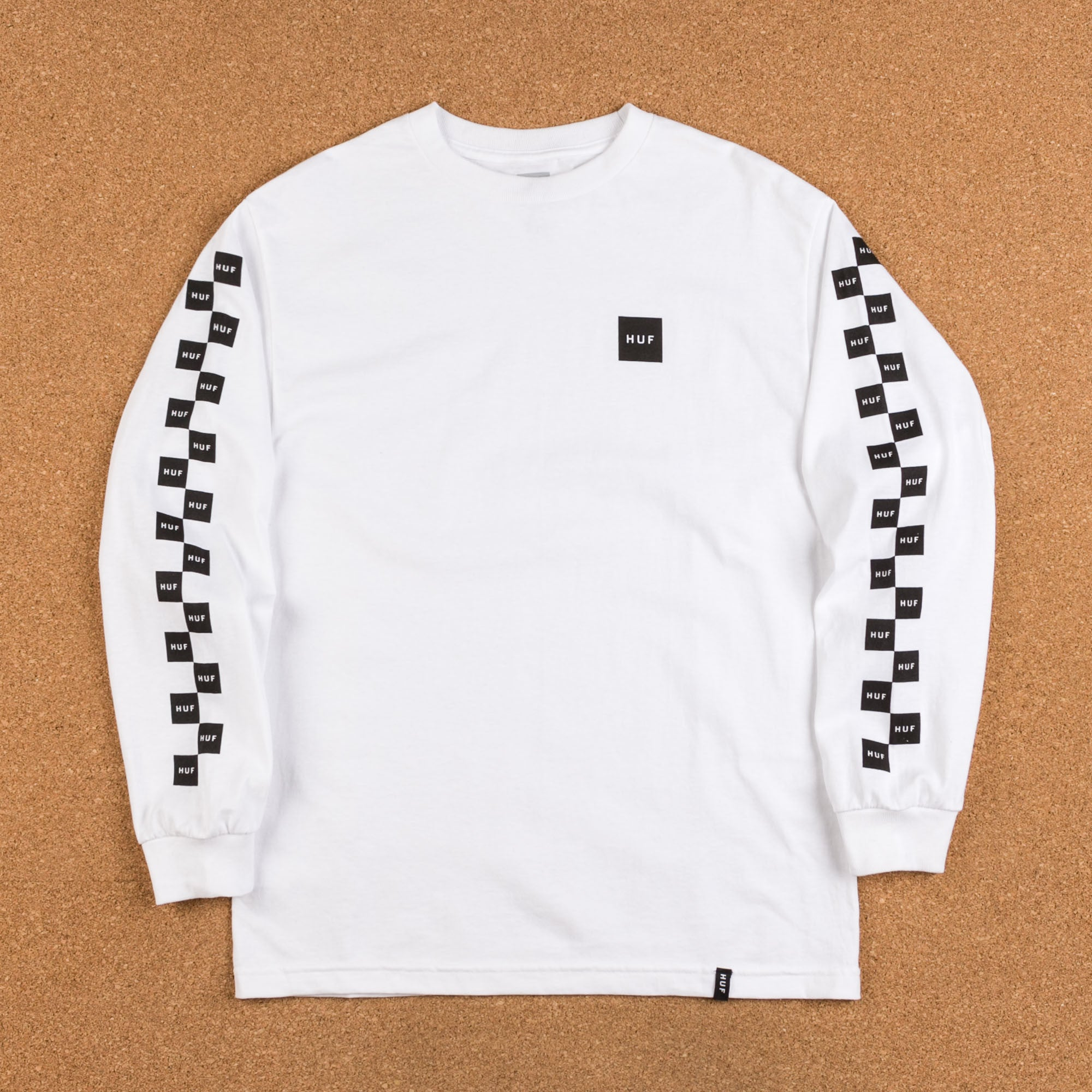 HUF Bunny Hop Long Sleeve T-Shirt - White / Black