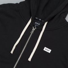 HUF Cadet Zip Up Hooded Sweatshirt - Black