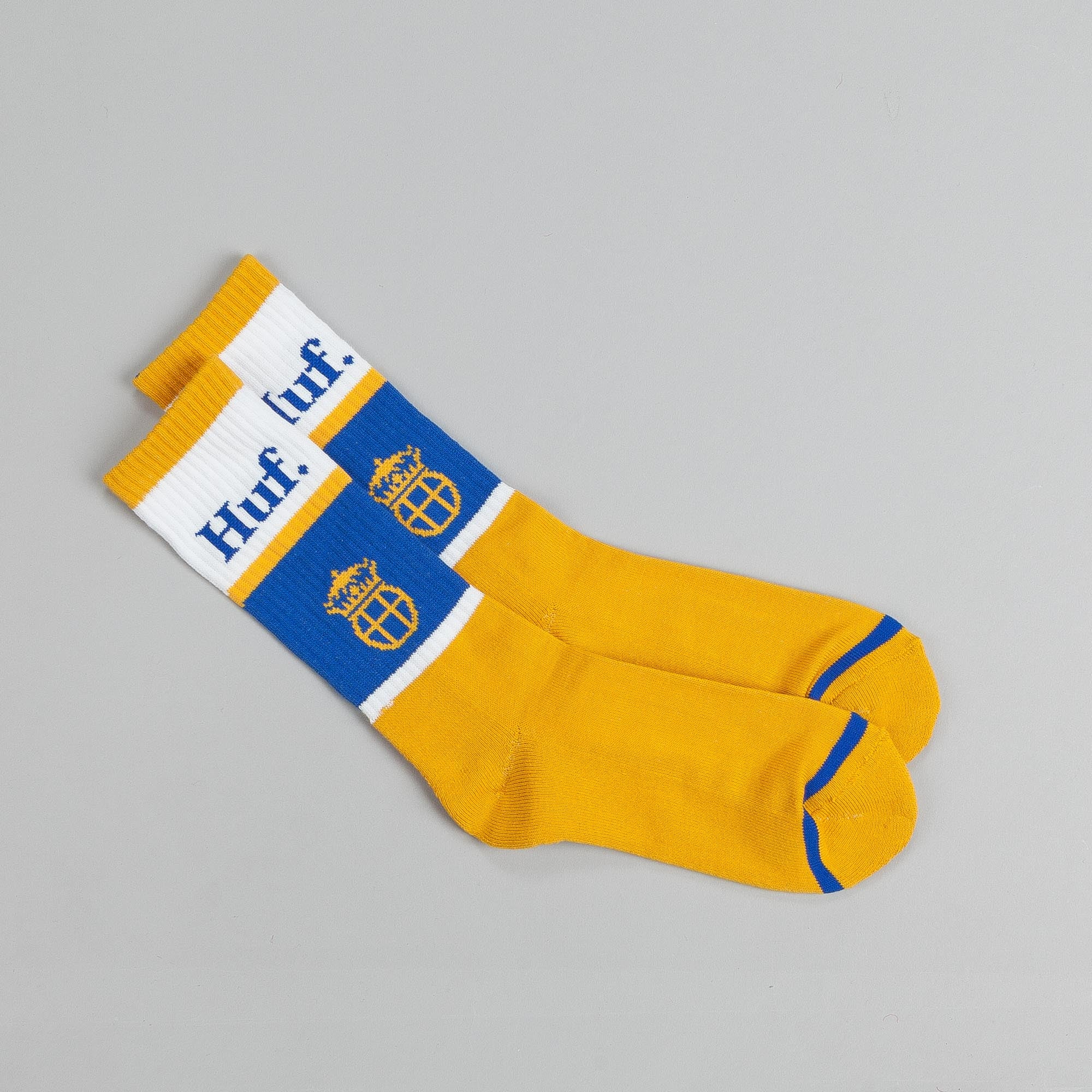 HUF Can Crew Socks Gold