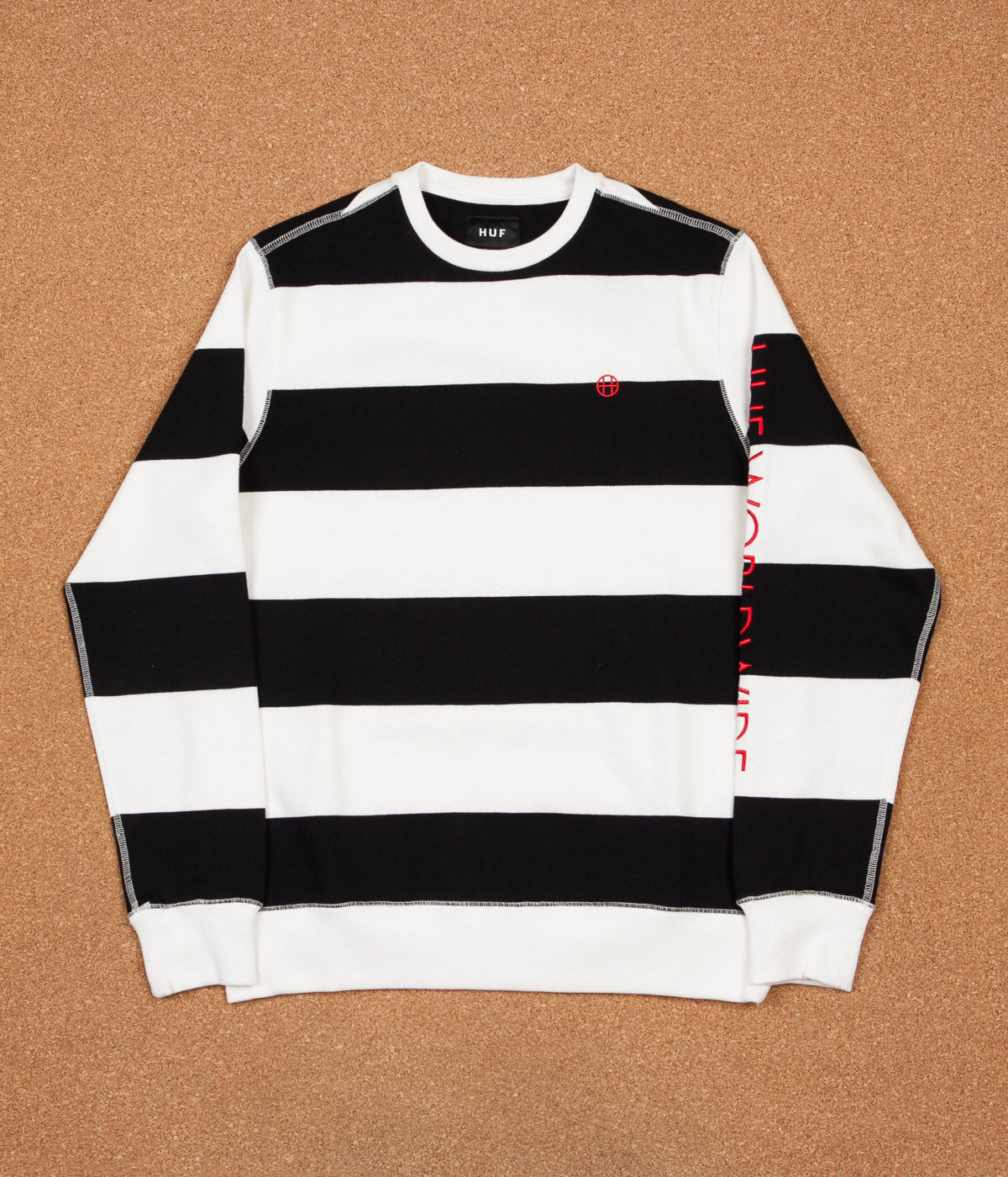 HUF Catalina Stripe Crewneck Sweatshirt - Black