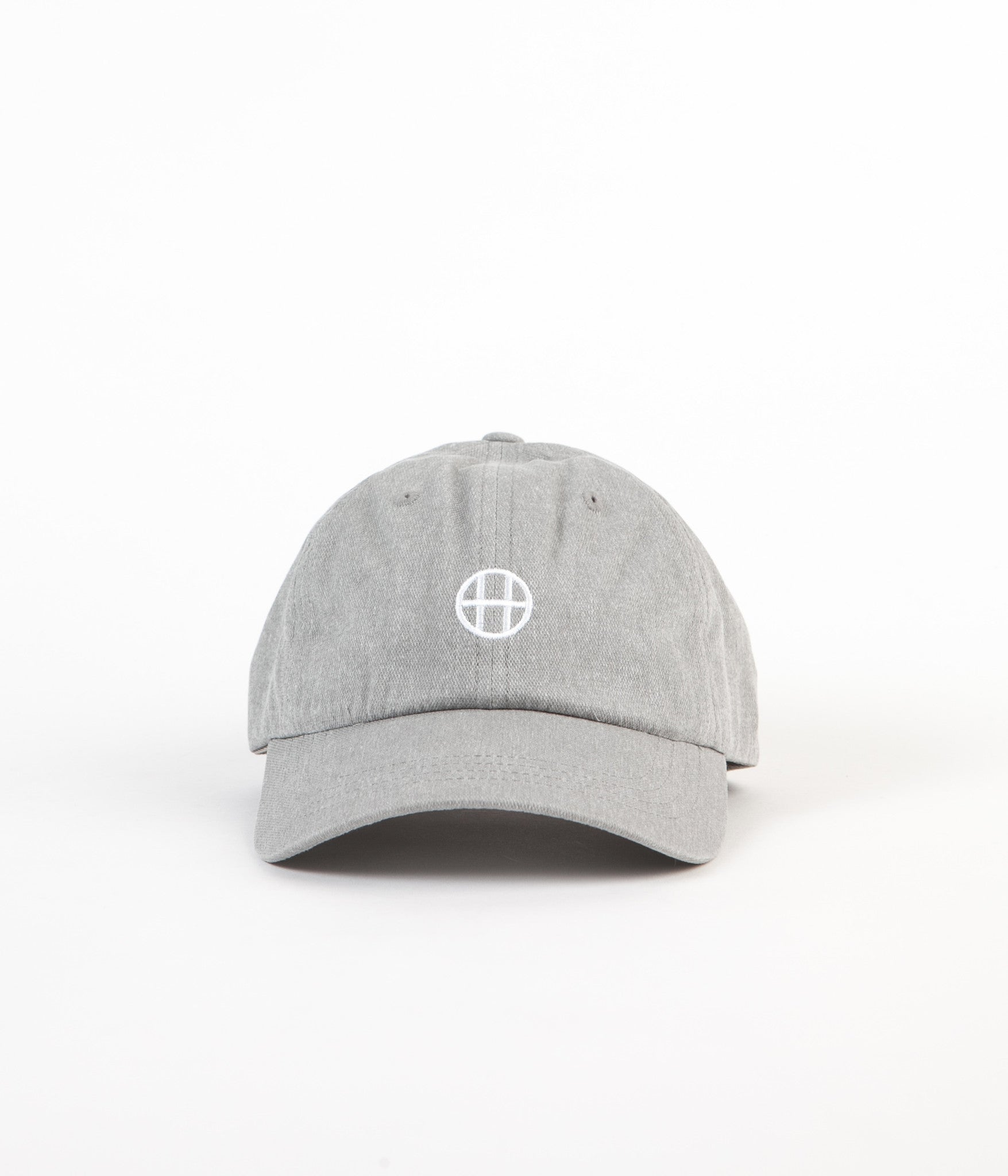 HUF Circle H 6 Panel Cap - Grey Heather