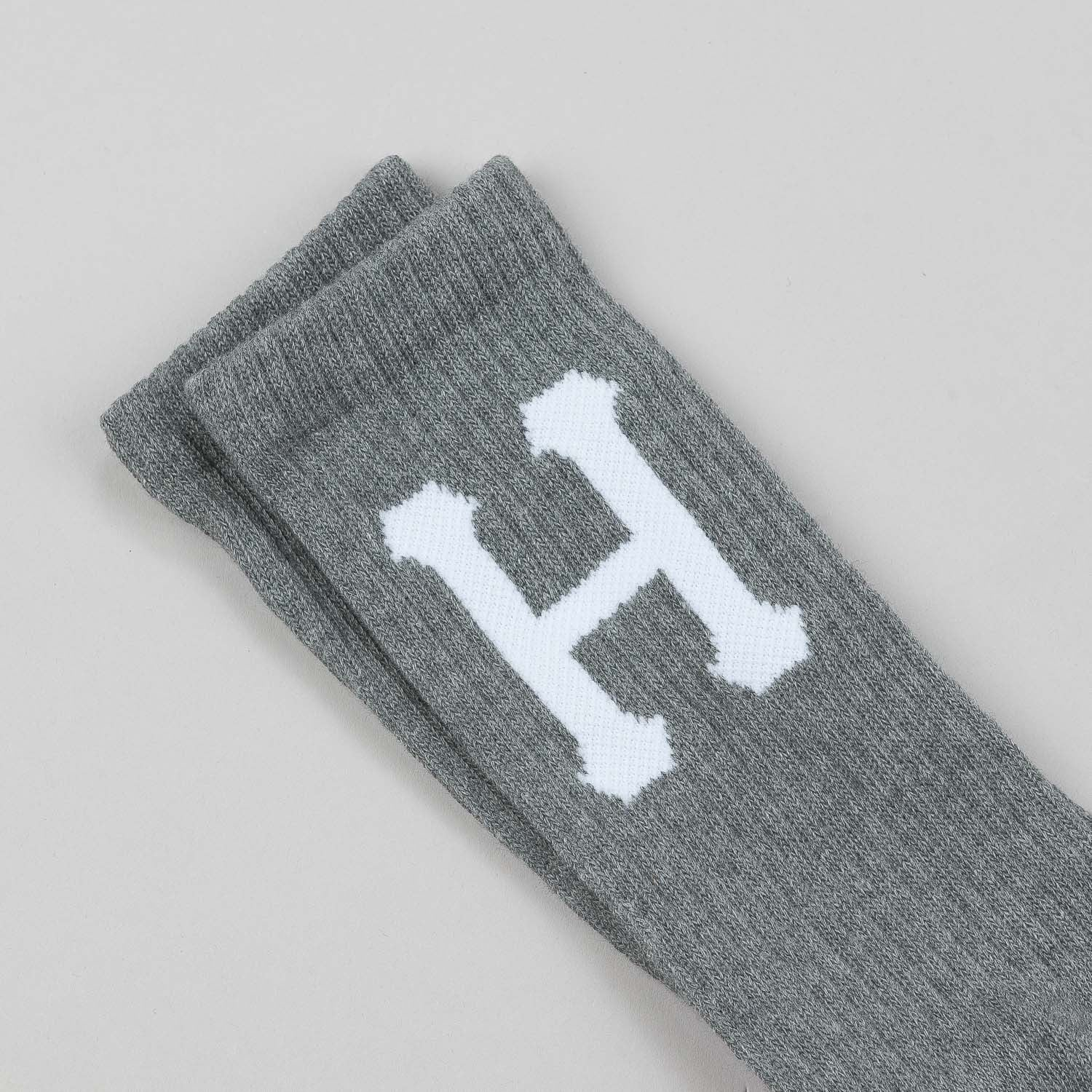 HUF Classic H Crew Socks Grey - Heather
