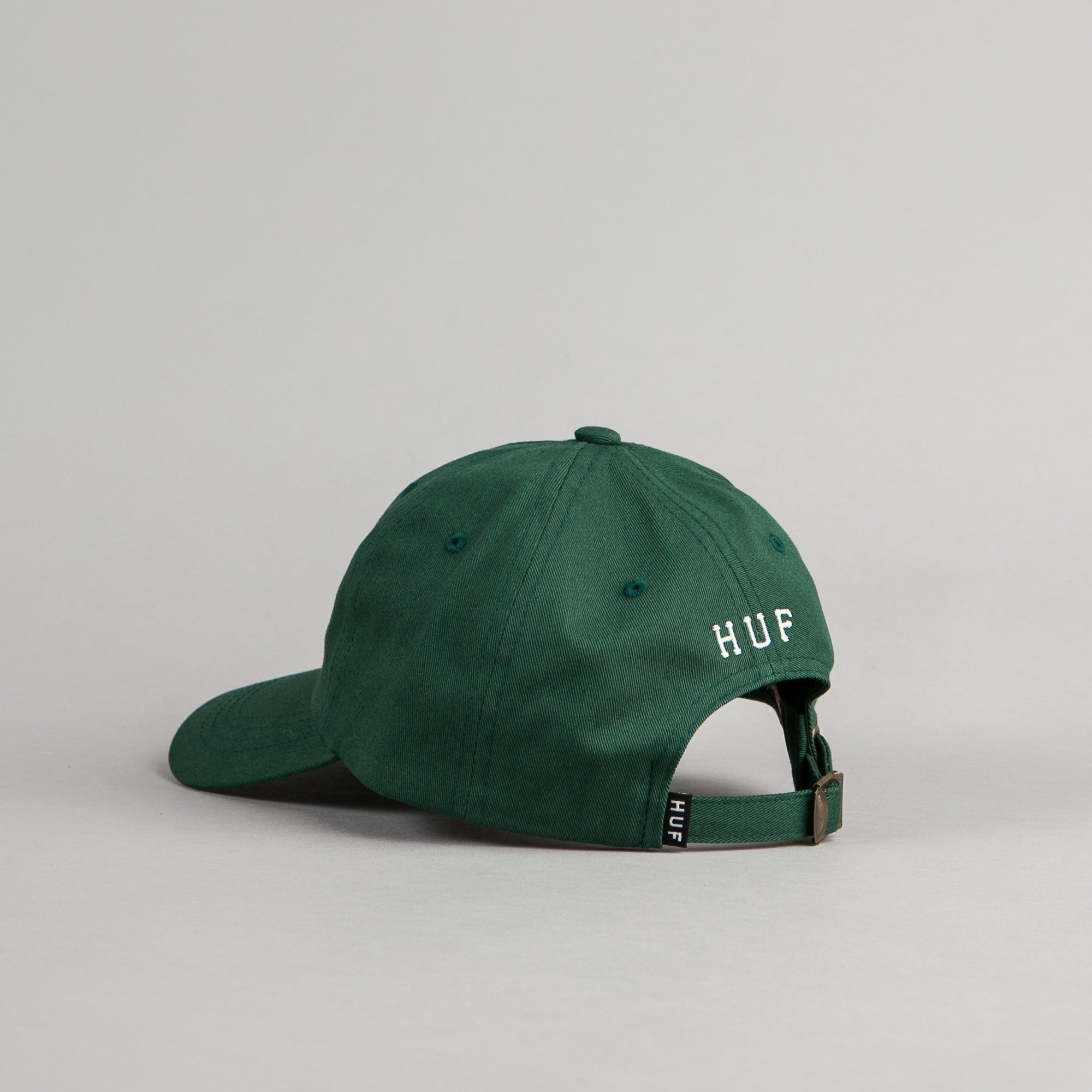 HUF Classic H Curved Visor Cap - Spruce / White